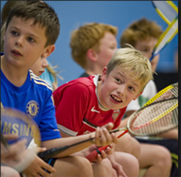 200,000 young people in England play badminton once a week