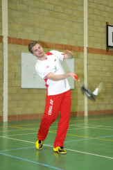 Team England badminton star Marcus Ellis