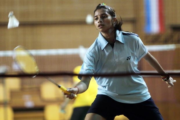 S. Kisona in a file photo. She will meet second-seeded Busanan Ongbumrungpan of Thailand in the quarter-finals of the Asian Junior Championships.
