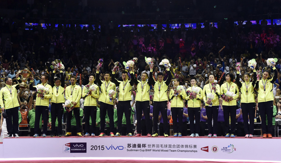 China rout Japan 3-0 in final to win 10th Sudirman Cup