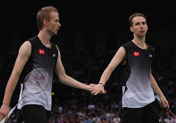 Mathias Boe and Carsten Mogensen in 2015 Baku semis
