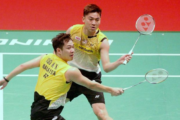 Koo Kien Keat (front) and Tan Boon Heong have been given an easier run to the quarter-finals of the World Championships.