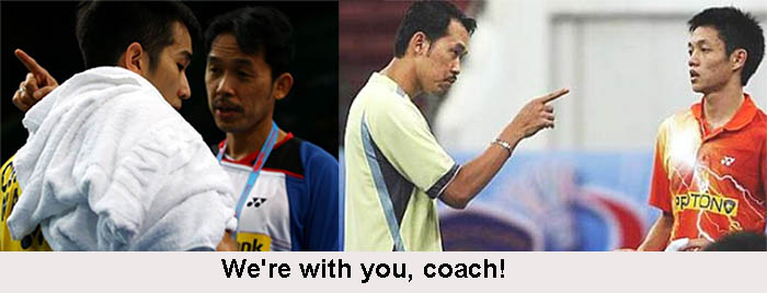 Current and former shuttlers stand behind Rashid Sidek