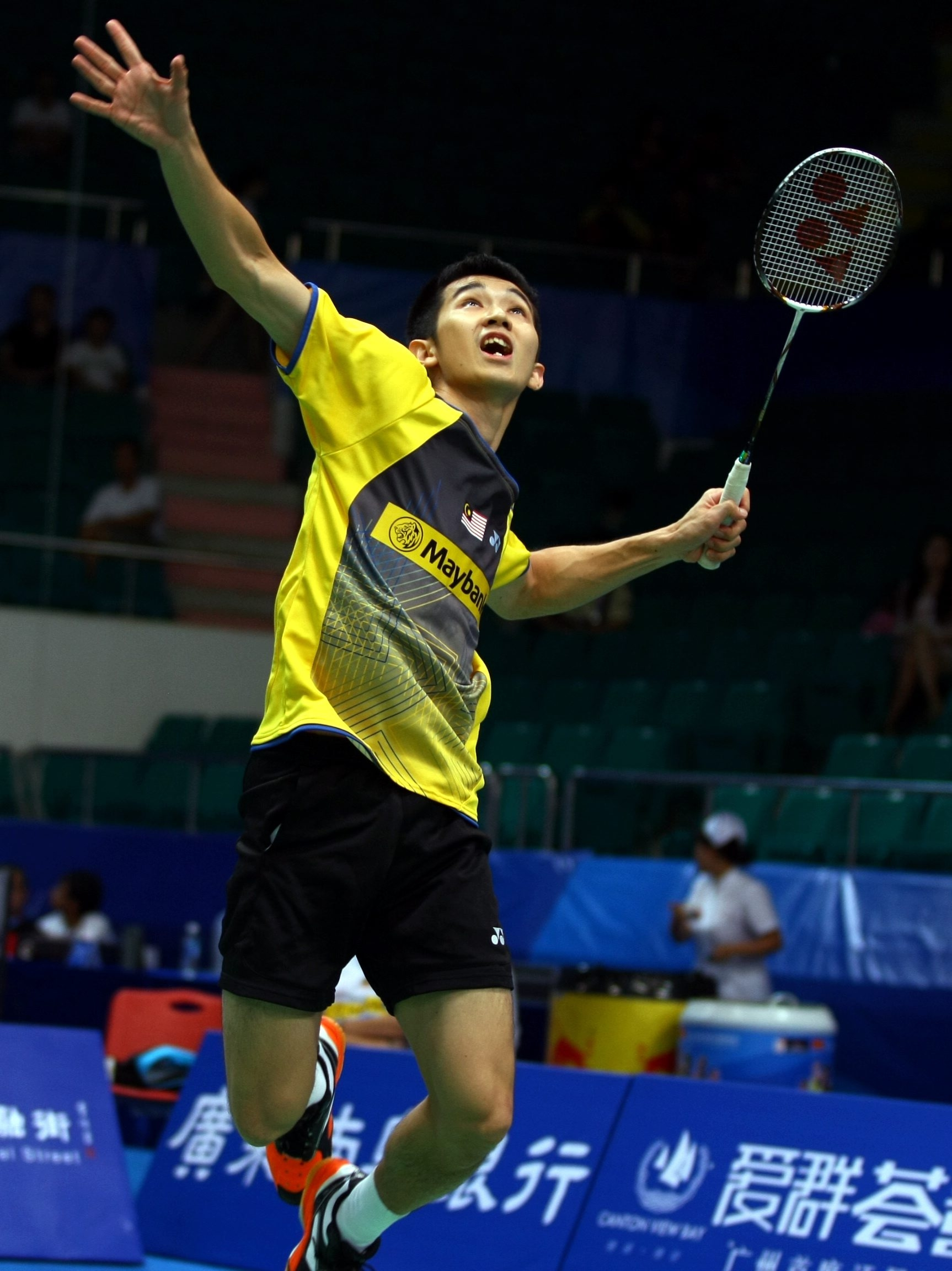 Wei Feng was impressive in beating England's Rajiv Ouseph in straight games.