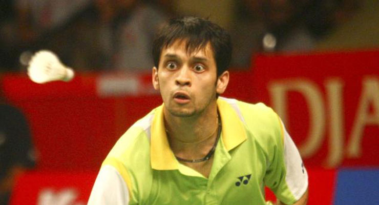 Kashap playing in Indian Badminton League