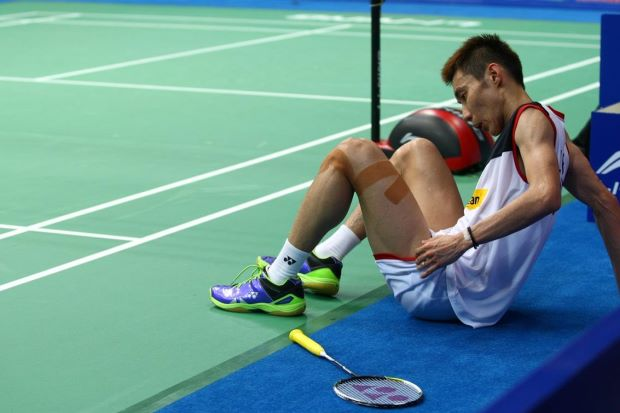 Down but not out: World No.1 Lee Chong Wei now has his sights on next year's World Badminton Championships in Copenhagen, Denmark.