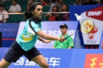 P. V. Sindhu of India at the World Badminton Championships in Guangzhou, China on August 10, 2013.