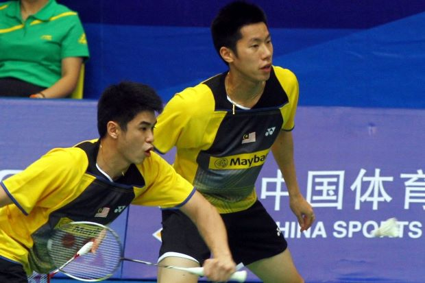 Lim Khim Wah (left) and Goh V Shem performed under-expectations, losing in the second round to compatriots Hoon Thien How-Tan Wee Kiong.
