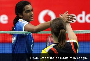 PV Sindhu after beating Juliane Schenk