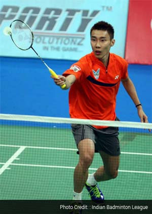 Lee Chong Wei plays in Indian Badminton League