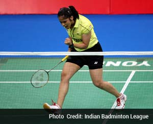 World number 4 Saina Nehwal will take to the court for the first time in front of her home crowd in the Indian Badminton League (IBL) as table-toppers Hyderabad Hotshots face bottom-placed Banga Beats here on Tuesday