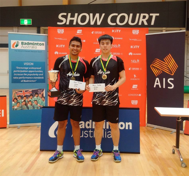 Ex-BAM shuttlers Jagdish Singh-Roni Tan Wee Long win Sydney Int'l Challenge