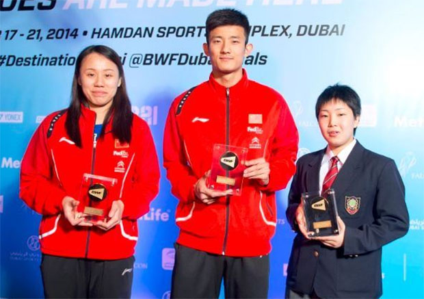 Chen Long & Zhao Yunlei are 2014 BWF player of the year