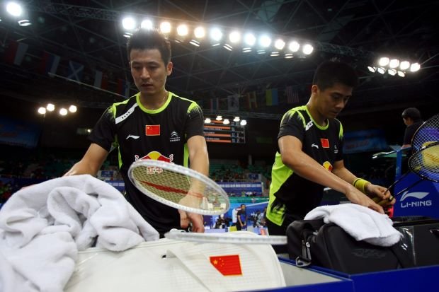 Fu Haifeng (right) and Cai Yun are now being paired with younger players. Haifeng says their time as partners is over as they take on the new role of mentors with the China national team.