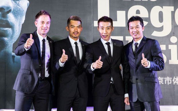 The Reunion of Lee Chong Wei, Lin Dan, Taufik Hidayat, Peter Gade