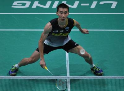 Hard fight: Lee Chong Wei beat China's Wang Zhengming 20-22, 21-4, 22-20 in the first round of the Indonesian Open in Jakarta yesterday.