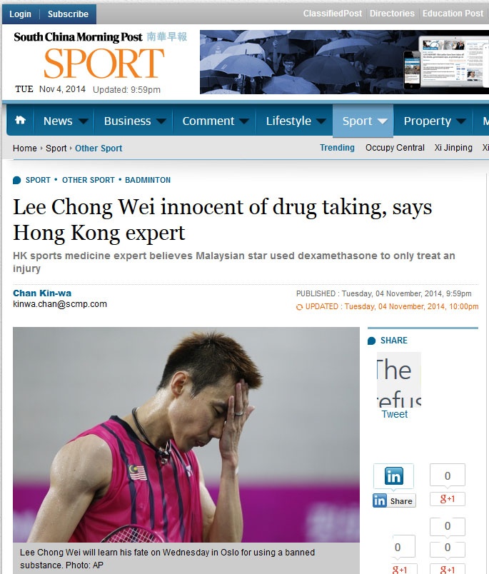 Outpouring of support for Lee Chong Wei from around the world
