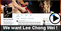 We want Lee Chong Wei!